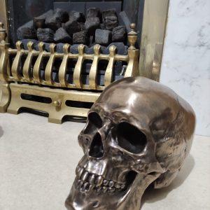 Cranius Bronzed Skull Ornament 22cm