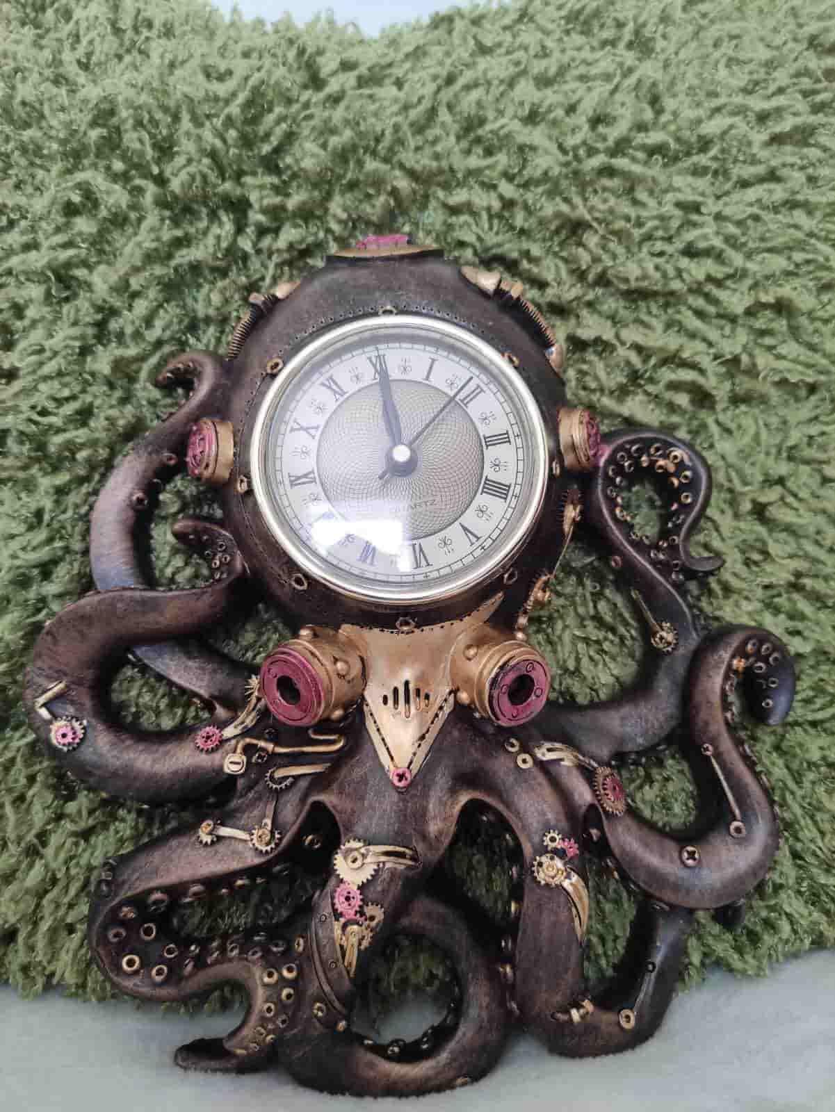 Steampunk Octupus Wall Clock