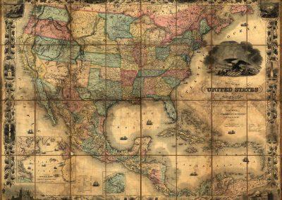 map idea antique